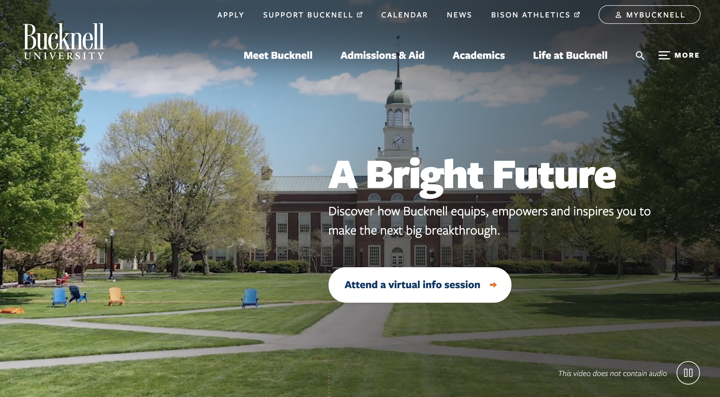 Bucknell University website header