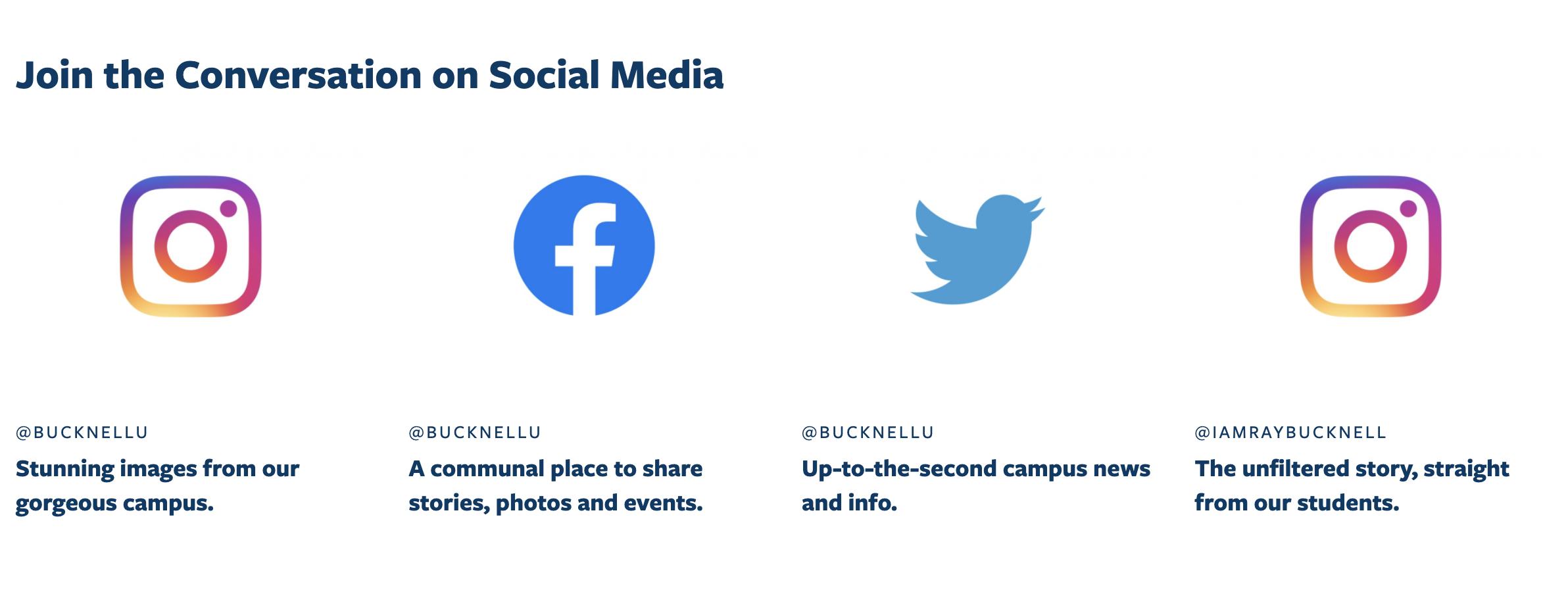 Image of Bucknell University website footer