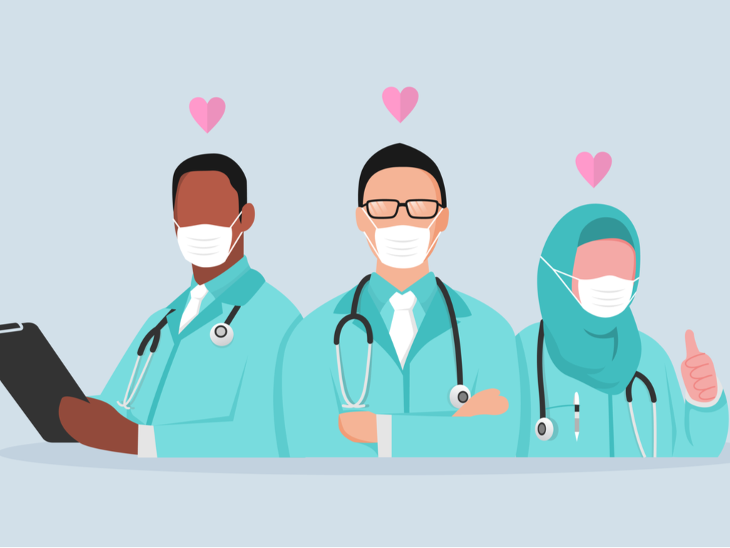 A group of doctors.
