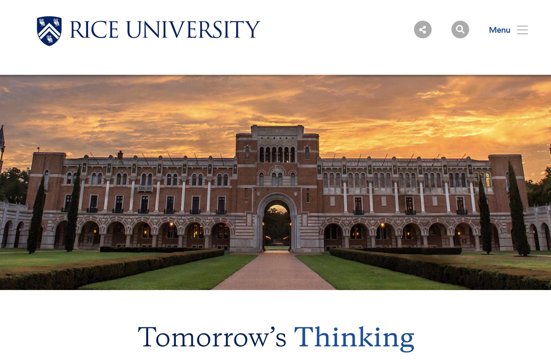 Rice University header