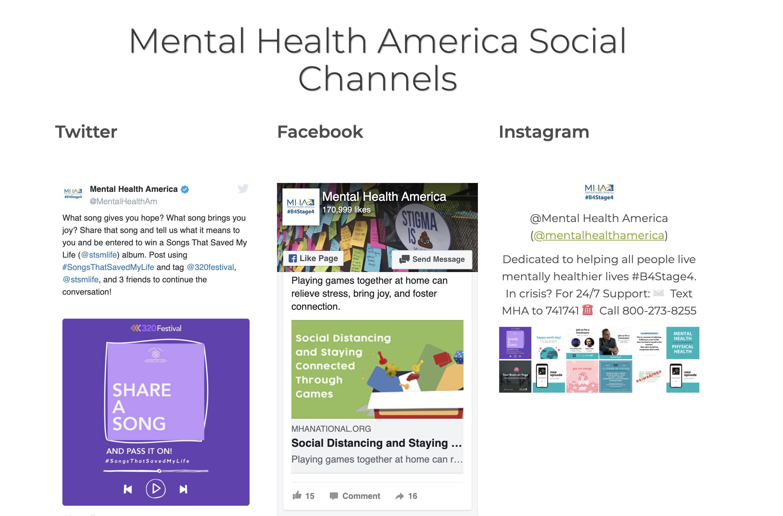 Mental Health America website
