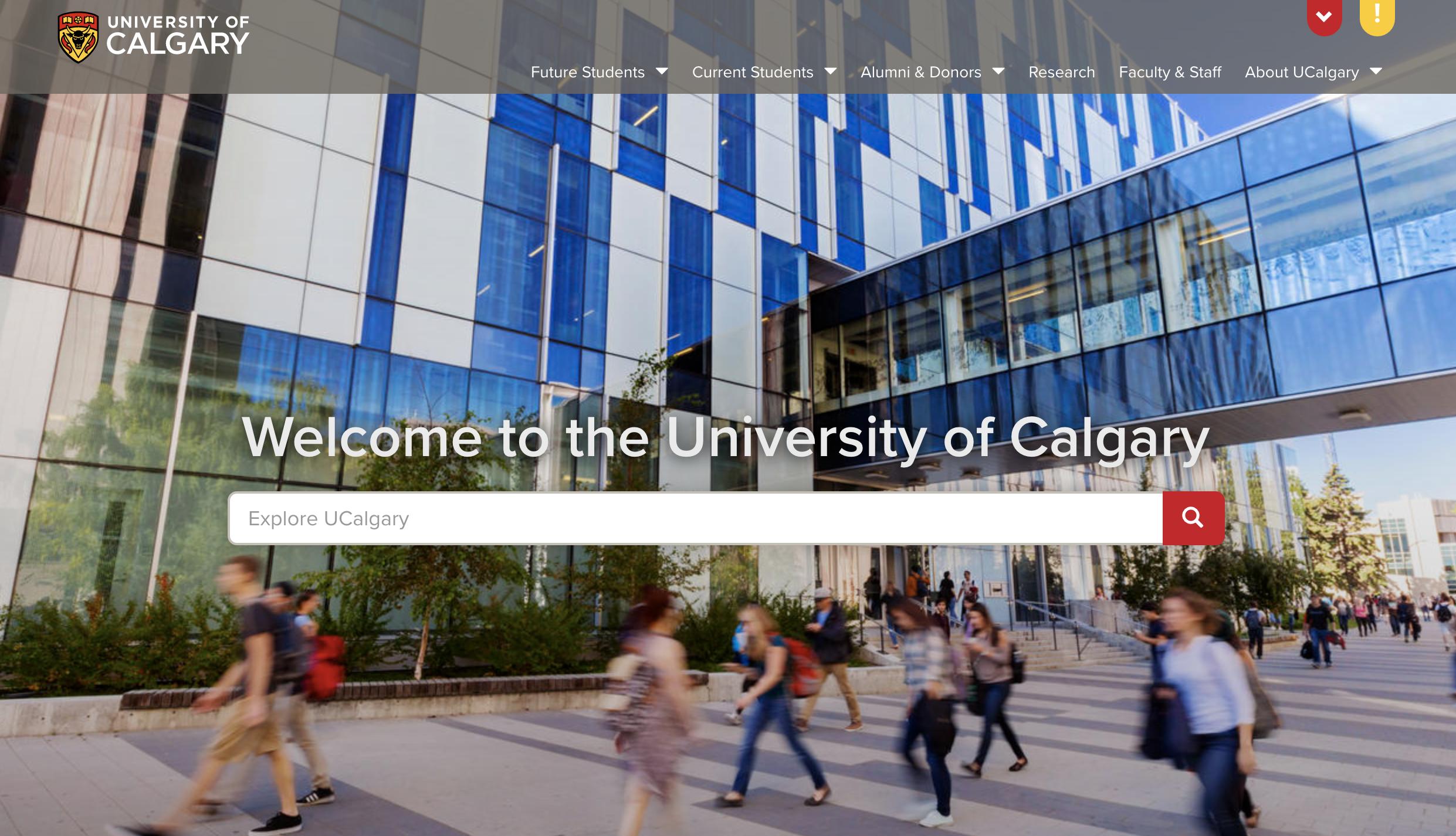 University of Calgary header