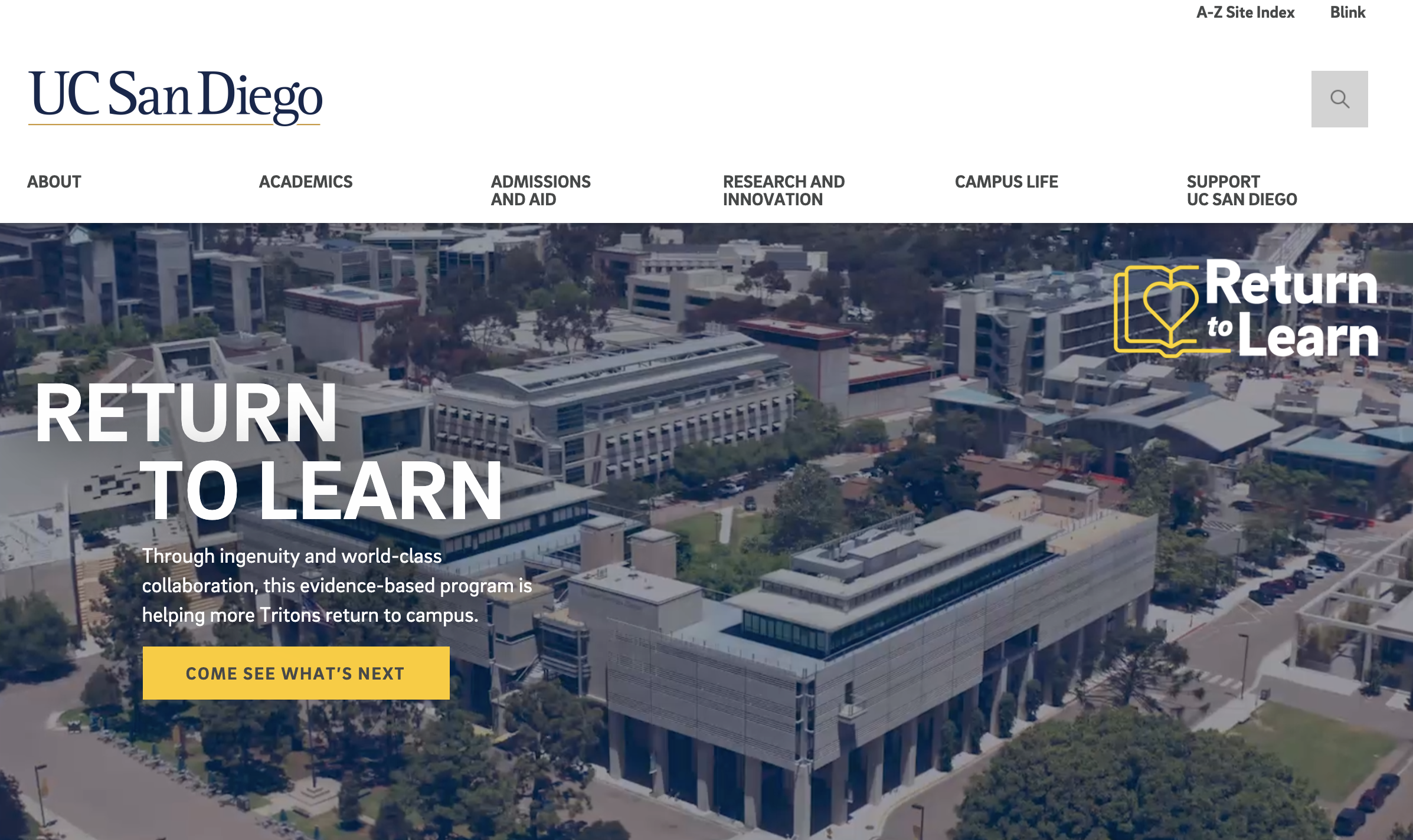 UCSD Website header